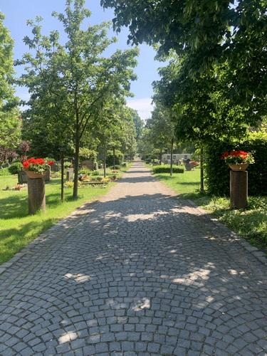 Mittelweg Friedhof Taucha Juni 2021